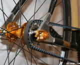 The drive-side dropout is removable to allow changing of the belt. ©Cyclocross Magazine