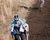 Kimberly Flynn battles to keep the lead.  ©Brian Nelson
