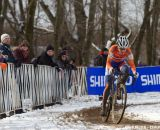 Mathieu van der Poel takes an early lead at the Elite World Championships of Cyclocross 2013. © Brian Nelson
