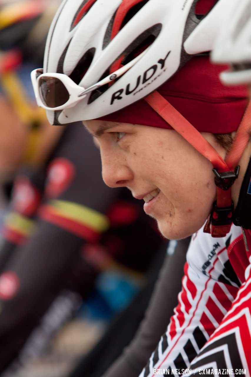Kari Studley\'s pre race game face. ©Brian Nelson