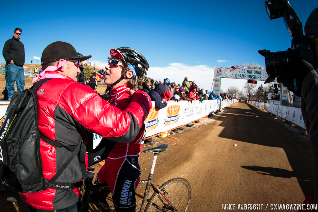 Catching his breath at the end in the 13-14 race at 2014 USA Cycling National Championships. © Mike Albright