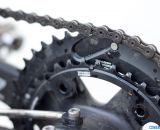 Calfee Design Manta CX Prototype with Praxis Levatime chainrings. © Cyclocross Magazine