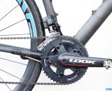 Praxis Works 110mm BCD cyclocross chainrings mount to Look's ZED2 crankset on the NAHBS Calfee Manta CX Prototype. © Cyclocross Magazine