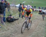 Greg Reain, 2006 Canadian cyclocross champ, attacks the major climb © Norm Thibault