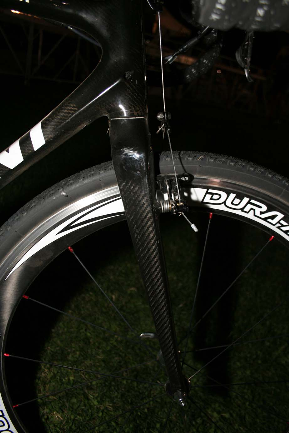 Deep dish Shimano Dura-Ace wheels provided extra speed on the flat course. by Andrew Yee