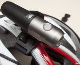 CatEye Volt 300 LED single beam bike headlight mounts well to most helmets. © Cyclocross Magazine
