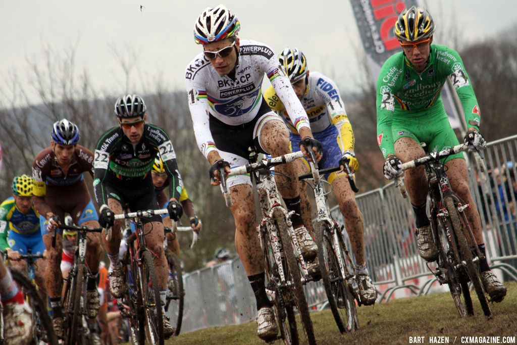 Niels Albert at Cauberg Cyclocross. © Bart Hazen