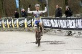 Van der Haar takes the win at Cauberg Cyclocross. © Bart Hazen