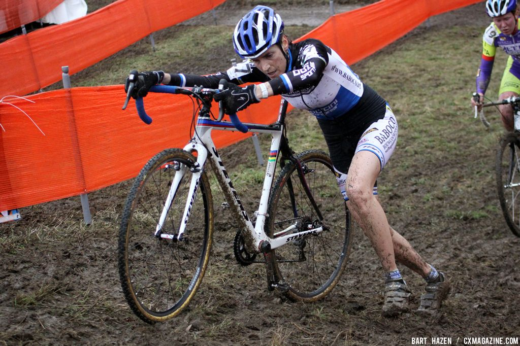 Christine Vardaros at Cauberg Cyclocross. © Bart Hazen