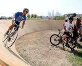 This mini velodrome somehow found its way to the park, thanks to the efforts of Lincoln Heights Cyclery. © Phil Beckman/PB Creative