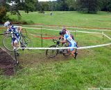 Newly minted elite racer Stacey Barbossa heading up the stairs.  © Cyclocross Magazine