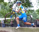 Van den Bosch takes the natural barriers. © Cyclocross Magazine