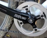 The single ring Truvativ crankset with built-in chain guard and bottom bracket cost less than $34. ©Cyclocross Magazine