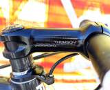 The controls are held with by a classic, reliable Thomson stem. ? Cyclocross Magazine