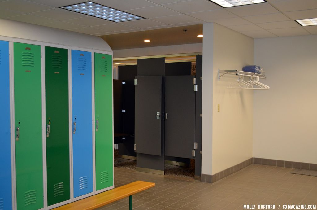Locker room for employees who bike commute to work. © Cyclocross Magazine