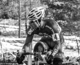 Page looks behind him at the 2013 Cyclocross National Championships. © Chris Schmidt