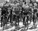 The women charge off the line at the 2013 Cyclocross National Championships. © Chris Schmidt