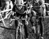 Kaitie Antonneau leads the charge at the 2013 Cyclocross National Championships. © Chris Schmidt