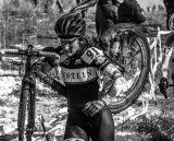 Riders struggled at the 2013 Cyclocross National Championships. © Chris Schmidt