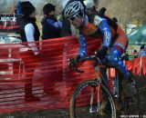 Jon Page shows his Nationals Champ colors-- in old kit! at Cincinnati Kings International Cyclocross. © Cyclocross Magazine