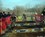 Powers and Trebon hop, Page runs at Cincinnati Kings International Cyclocross. © Cyclocross Magazine