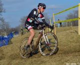 Powers looks determined at Cincinnati Kings International Cyclocross. © Cyclocross Magazine