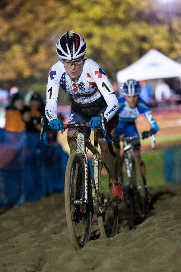 Compon in the lead at Kings CX After Dark.