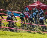 The Elite Men's field early on in the race. © Kent Baumgardt