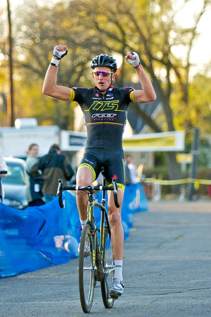 Trebon soloed in for the win after being off the front from very early on. ©Jeffery Jakucyk