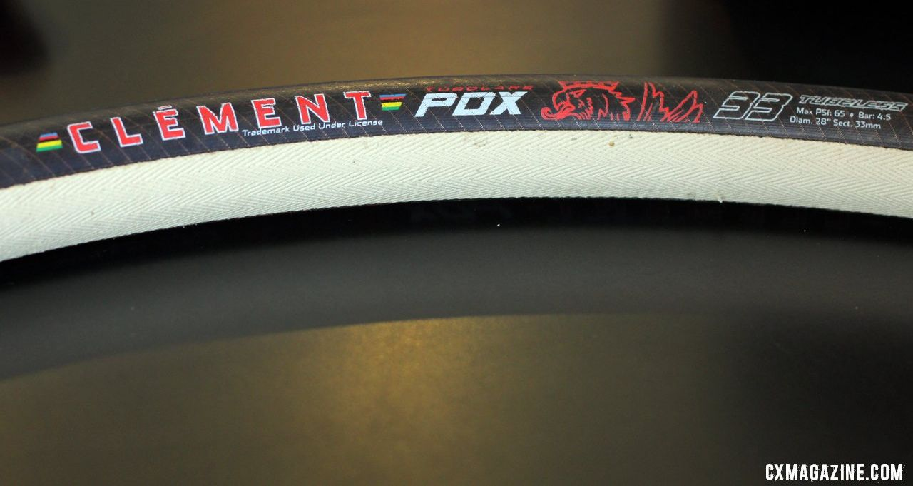 The Clement cyclocross tubulars will feature a seamless basetape, and no internal tube. © Cyclocross Magazine