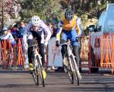 McDonald and Sonntag sprint for the Collegiate Men D1 Cyclocross National Championship.? Cyclocross Magazine