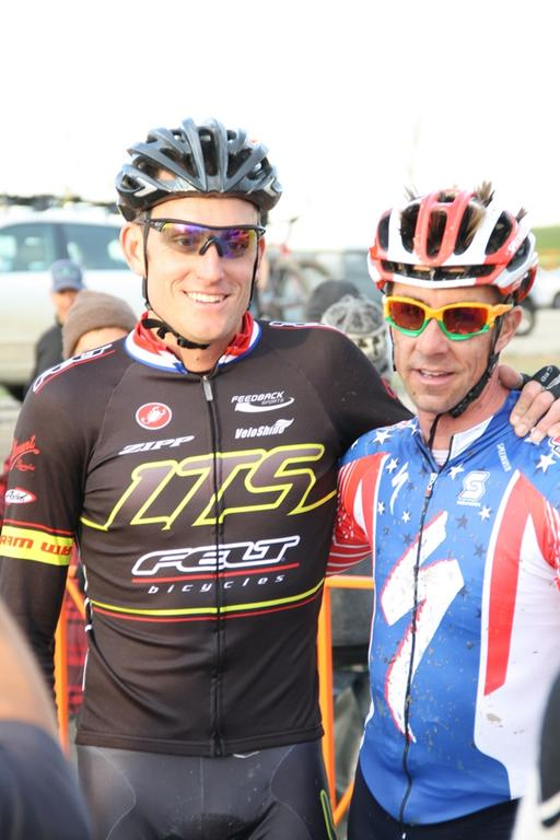 Leaders Trebon and Wells after the race. © P Guerra