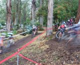 The A men snaking through the first climb. © Cyclocross Magazine