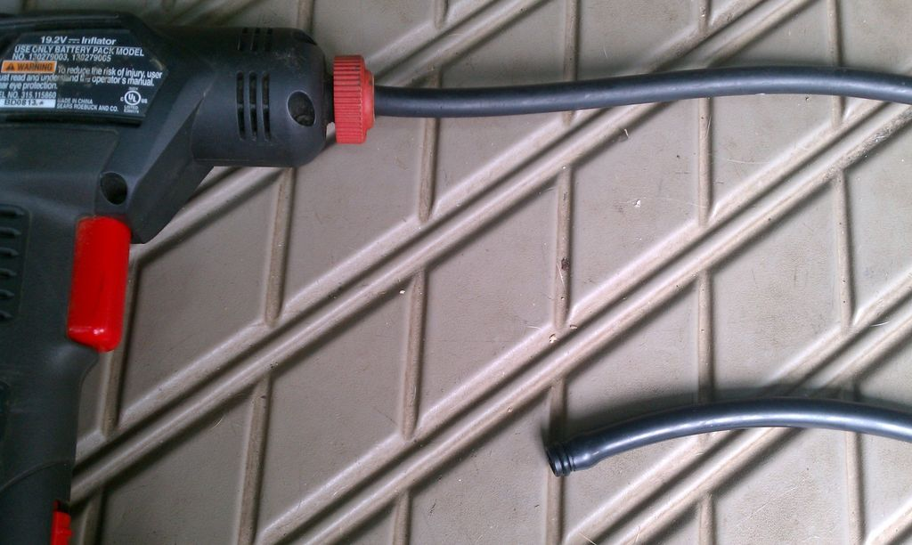 step-one-this-is-the-old-hose-in-the-inflator-and-the-new-hose-out-of-the-package