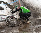 An icy, muddy spin-out ©Janet Hill
