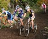 Megan Faris, Wendy Williams, Serena Bishop (l to r) Alice Pennington in back after crashing. Cross Crusade #5 & #6. ? David Roth