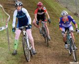 Brigette Brown, Brooke McDermid and Serena Bishop Gordon tackle the off-camber grass. ©Pat Malach