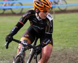 Professional road racer Brianna Walle flew the Optum colors Sunday. © Pat Malach