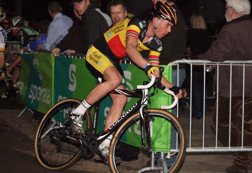 Sven Nys\' evening was a reminder of the latter half of his season. ? Bart Hazen