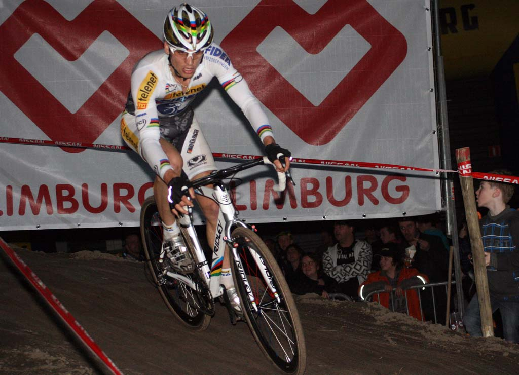 Stybar\'s BMX background benefited him and the crowd as he impressed with his handling skills. ? Bart Hazen