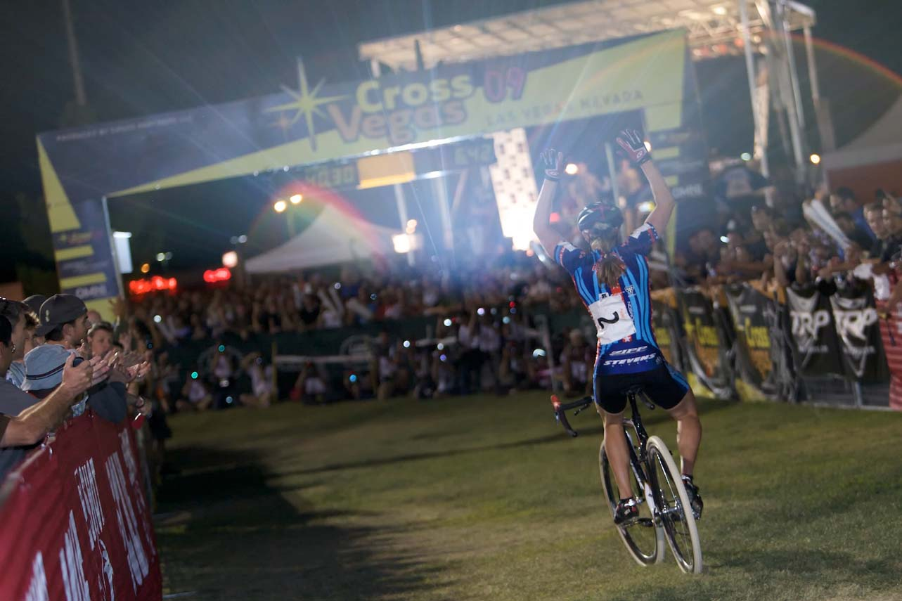 Katie Compton crushes the competition at CrossVegas. ? Joe Sales