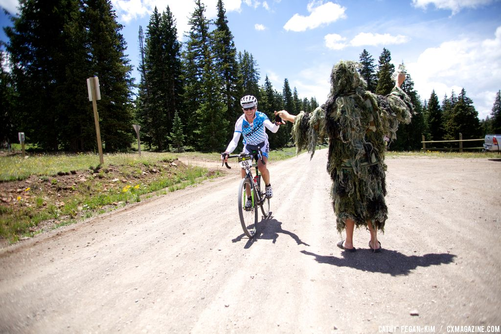 Gillie suit makes an appearance at Crusher in the Tushar. © Cathy Fegan Kim