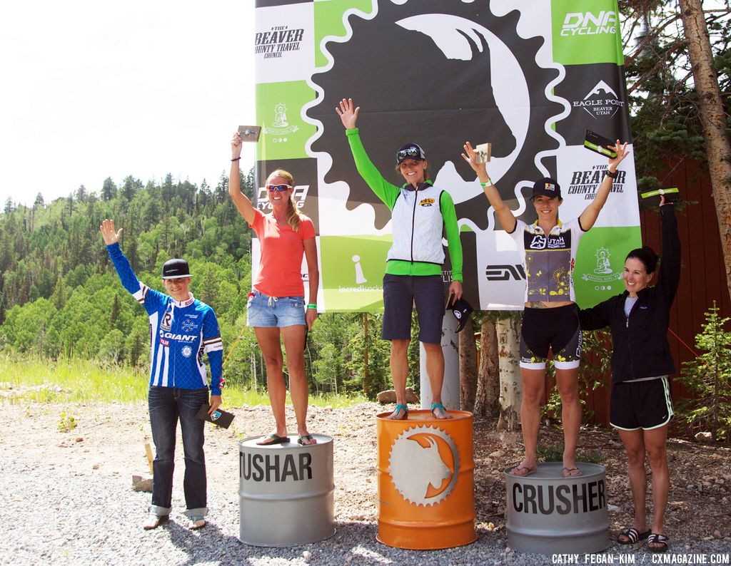 Women\'s Podium at Crusher in the Tushar. © Cathy Fegan Kim