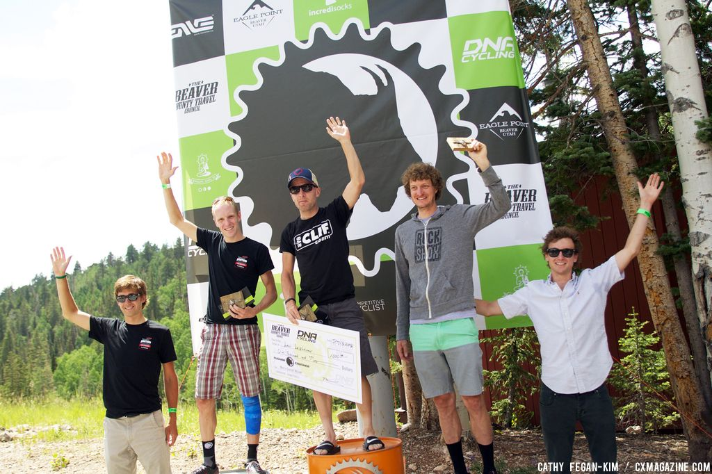 Men\'s Podium at Crusher in the Tushar. © Cathy Fegan Kim