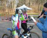 Maureen Bruno-Roy fixes her helmet as Richard Fries calls up the rest of the elite women. ? Paul Weiss