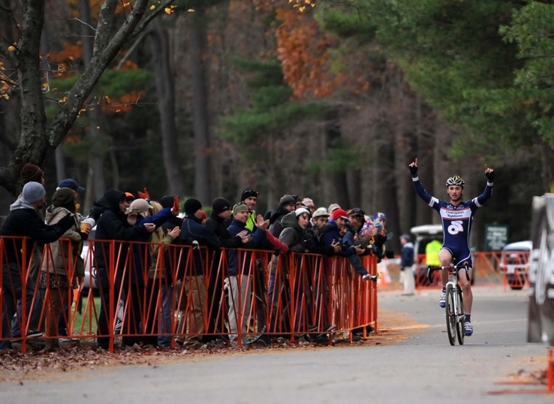 Luke Keough (Champion System p/b Keough Cyclocross) takes his second win of the weekend © Natalia Boltukhova | Pedal Power Photography | 2010