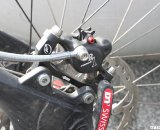 Cannard has a set of tubulars mounted to 135mm mountain bike disc-ready hubs. © Cyclocross Magazine