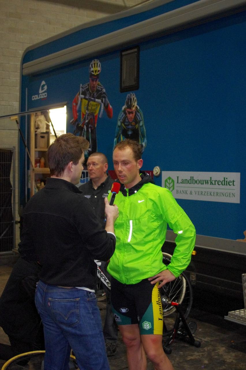 Sven Nys in a pre-race interview.  ? Jonas Bruffaerts
