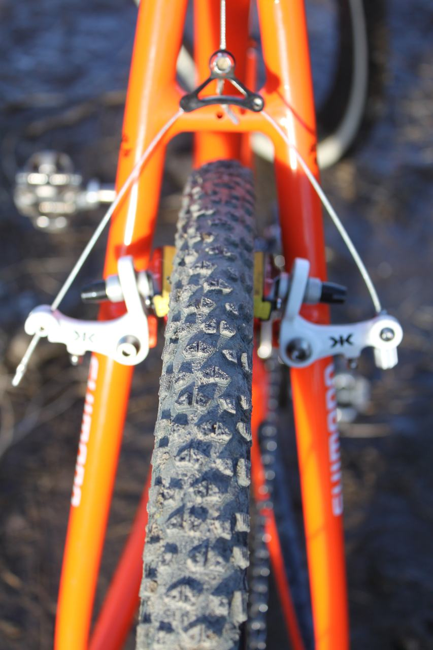 Wicks used the FMB Grippo in the rear as well. ? Cyclocross Magazine