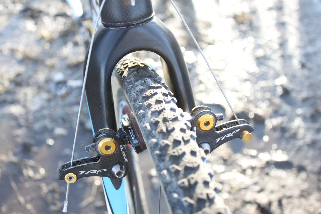 Cameron used a FMB Grippo in the front. ? Cyclocross Magazine